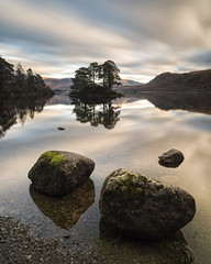 Abbots Bay (Peter Henry Photography) Tags: water lake rocks island derwentwater cumbria longexposure colour reflection clouds sky