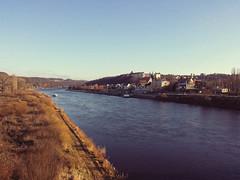 Elbe und Pirna (Veit Schagow) Tags: elbe albis river fluss labe pirna stadtbrücke sachsen herbst