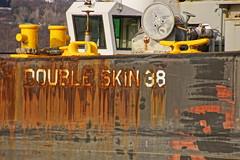 Barge Double Skin 38 (thetrick113) Tags: tugboat quanticocreek tugboatquanticocreek vanebrothers doubleskin38 humanatsea barge hudsonriver river newhamburgnewyork dutchesscountynewyork rusty oxidation petroleumbarge petroleum fueldock bottinifuel bottinifuelterminal sonyslta65v hdr vane vanebrothersbarge hudsonvalley hudsonrivervalley winter 2016