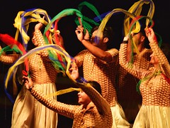 The Dance Troupe - N. India (Timothy Hastings) Tags: dancers troupe northern india bengal colors ribbons ganges people