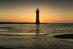 Perch Rock Lighthouse Glow (David Chennell - DavidC.Photography) Tags: lighthouse twilight glow glowing newbrighton perchrock wirral merseyside dusk silhouette