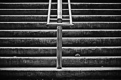 City Stairs B&W (Tom Cuppens) Tags: flickr remakes rotterdam straatfotografie zwartwit minimal minimalism lines trappen urban nederland holland blackandwhite