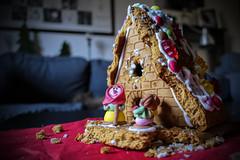 Termites? Mice? (sonhan71) Tags: lx1510 house building kuchen hexe witch sweets christmas weihnachten kusperhäuschen lebkuchenhaus krümel hänsel gretel smarties gummibärchen
