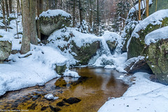 Ysperklamm im Winter - vereister Doppelwasserfall (AnBind) Tags: schnee motive 2017 winter wasserfall ysperklamm wasser jahreszeit ausflug waldviertel eis yspertal niederösterreich österreich at