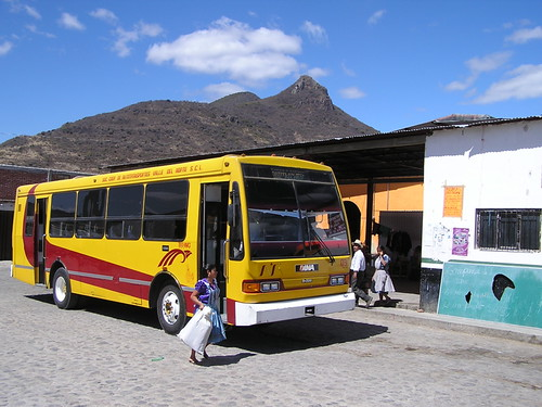 Bus in Teotitlan del Valle Mexico