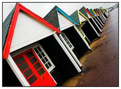 Match box houses (ZekiZeki) Tags: building beach architecture buildings huts expensive bournemouth