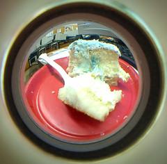 culmination cake (dogwelder) Tags: california june cake 2006 fisheye zurbulon6 peephole fisheyelens june21 zurbulon gatturphy lausd dilojun06