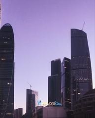Moscow. (qmdaniela) Tags: moscow mosc rusia purple sky colours iphone skyline beautiful city lights sunset