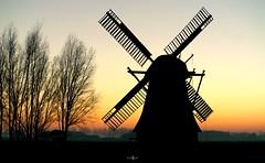 Silhouette of a windmill (amanda.fotogaaf) Tags: sun sunset windmill fog groundfog colour skyline silhouette sky view tree outdoor greatphotographers ngc greaterphotographers greatestphotographers ultimatephotographers superstarphotographer elitephotographers