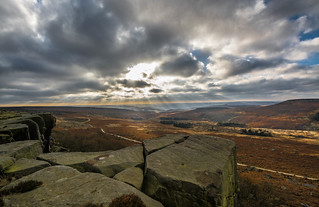 View from Burbage Edge..