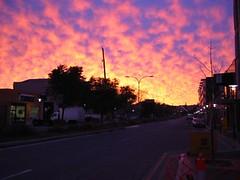 Sun Birth (StephenMitchell) Tags: street city pink sky cloud architecture horizon perspective australia adelaide cbd southaustralia hue shadowcloud purplepinkandblacksilohuette pinkhorizon ezcreate