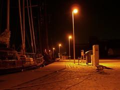 CIMG2722 (king of monks) Tags: 2005 wismar alterhafen oldharbour night ship sailboat quaywall