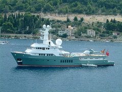 The ship of Tom Cruise arrived in Vis... Who wants him? (Snazzo) Tags: 2005 vis croatia vacanze snazzo holyday mediterranean