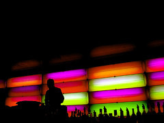 nite life (macca) Tags: lights bar dj colourpallette background sydney