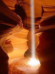 Beam, Antelope Canyon, Arizona (LivingWilderness.com) Tags: nature southwest sandstone cave canyon slotcanyon beam light dramatic awe antelopecanyon arizona