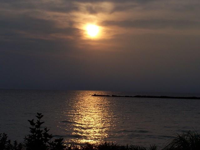 Underexposed Kincardine Sunset
