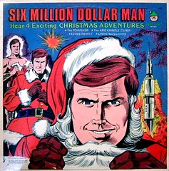 Six Million Dollar Man - Four Exciting Christmas Adventures (dogwelder) Tags: christmas fiction album vinyl cover spy record spies zurbulon6 espionage steveaustin sixmilliondollarman zurbulon gatturphy thesixmilliondollarman referencepic