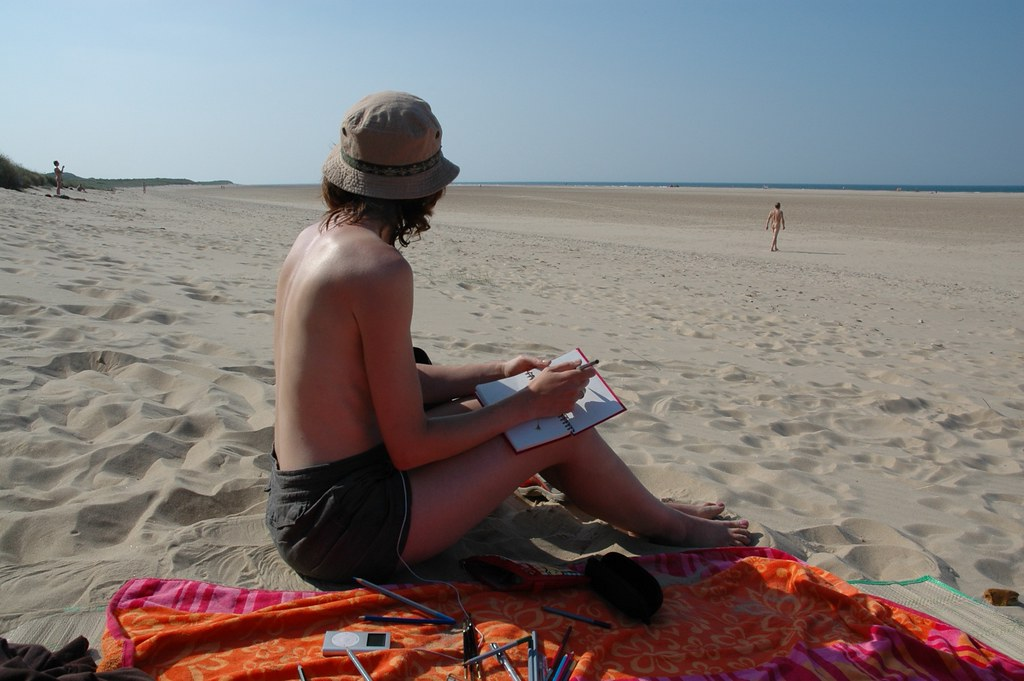 Mine holkham nudist beach