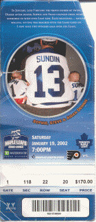 January 19, 2002 - Maple Leafs