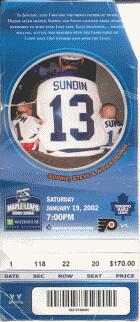 January 19, 2002 - Maple Leafs