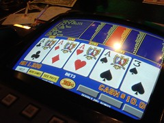 Four of a kind on video poker!