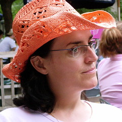 Nora Young and her fab hat at Flickr.com