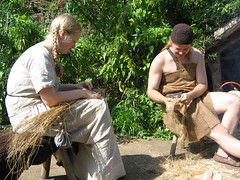 flax time again (hans s) Tags: archeon 2005 netherlands reenactment history medieval archeological themeparc prehistoric flax