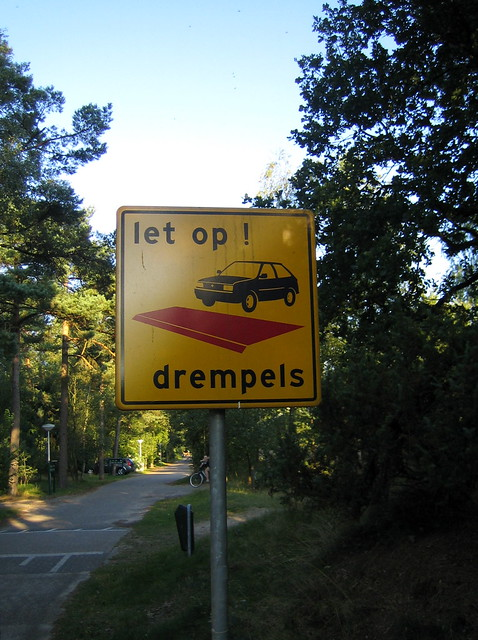 Speed bump in Dutch