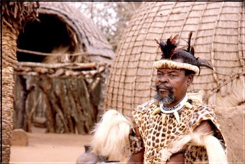 Jefe de una tribu Zulu