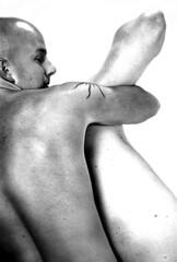 manhandle (p_e_t_o) Tags: shirtless male men masculine bald homoerotic menplaying