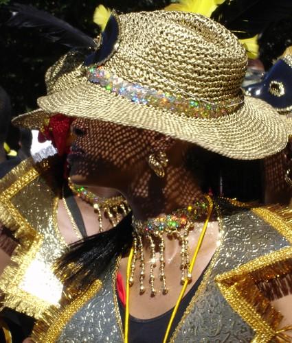 Hidden Beauty (Gold Mesh Hat)