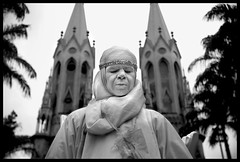 silence ( Tatiana Cardeal) Tags: brazil people bw white church brasil angel digital topf50 published cathedral website silence tt tatianacardeal independenceday mimic brsil closedeyes screamoftheexcluded