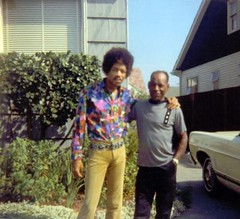 jimi and his dad (bballchico) Tags: seattle family dad rockstar father son hendrix rocknroll jimi emp jimihendrix guitarist virginiamason purplehaze alsson alhendrix