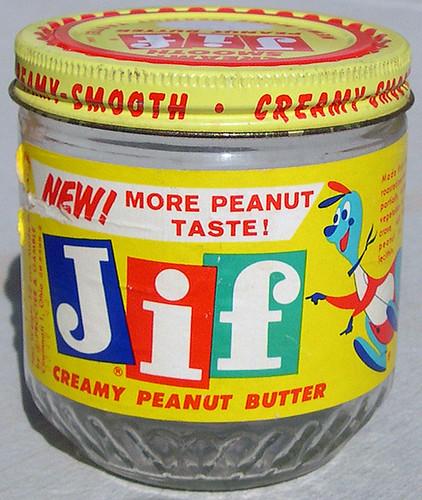 Jif Peanut Butter Jar, 1958