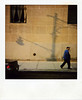 manhat-on (eyeblink) Tags: nyc travel blue original people yellow adults polaroid600 exitpole streetsmilecontest2