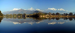 Fewa morning (manadu) Tags: nepal reflection nature water himalaya pokhara annapurna fewalake