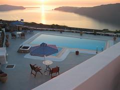Santorini Sunset by the Pool (104_0445) (orayzio) Tags: 2003 sunset 15fav pool topv111 1025fav 510fav interestingness topv555 topv333 topv1111 topv999 topv444 topv222 santorini greece topv777 topv666 topv888 greecetrip interestingness91 i500 greektrip