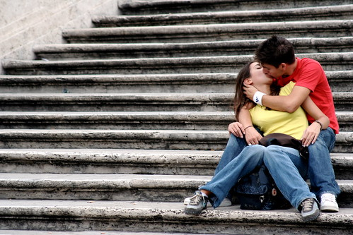 kiss on the steps by jonrawlinson, on Flickr