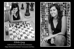 Elisha Garg BW (CoachCashMoney) Tags: california girl lady female photoshop poster action indian champion chess sanjose stanford bonita filipino santanarow inspirational maganda kevinbatangan elishagarg siciliandefense talentedpeople simpatica