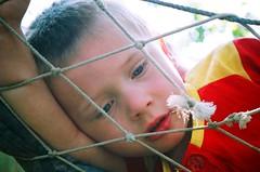 Nodding off (Vratsagirl) Tags: loze kids seb faces swing