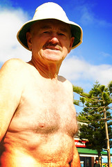 Old swimmer, Bather's Beach (sengsta) Tags: fremantle beach portrait aussies
