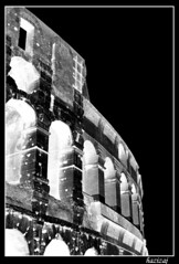 LightPower (lightpaint) Tags: colosseum rome blackandwhite inverted