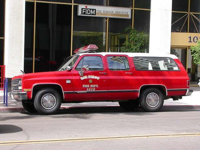 sandiego fire firechief sdfd chevy chevrolet suburban