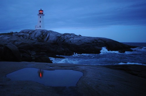 Peggy's Cove lighthouse with reflection