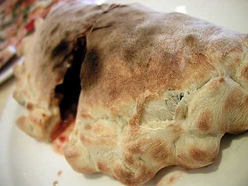 lovely edged calzone
