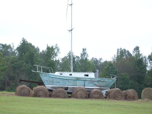 Ship at Jim Bird's Hay Creations, Forkland AL