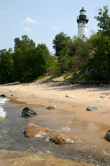 lighthouse1 (sumbler) Tags: lighthouse beach up michigan superior explore upperpeninsula greatlake picturedrocks sumbler twelvemilebeach 12milebeach