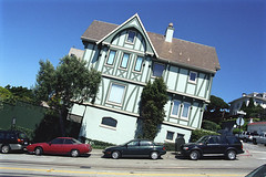 0193-0000-0016 (smadness) Tags: sanfrancisco house topv111 topv333 surrealism hill tilted