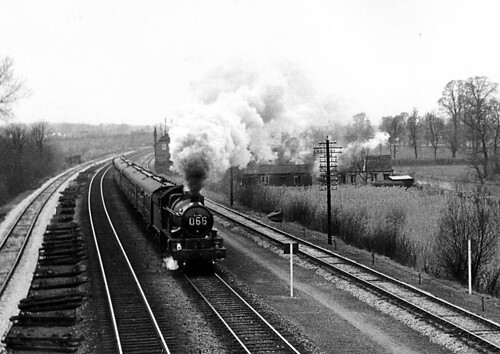 Steam train near Oxford - February 1960