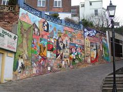 Mural in Scarborough (anyjazz65) Tags: castle shopping mural artgallery beatles scarborough seashore goon ajo65 pbshouldseethis amorningonthetrain 541658n 02347w blogthmondaymural20131216
